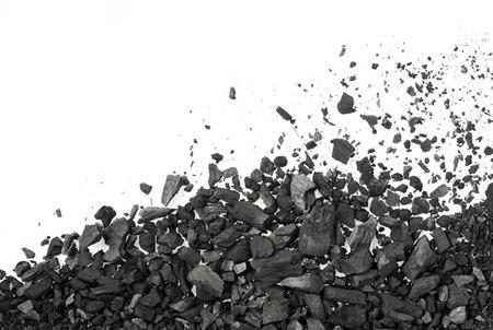 Carbon charcoal texture on white background Banco de Imagens - 78842439