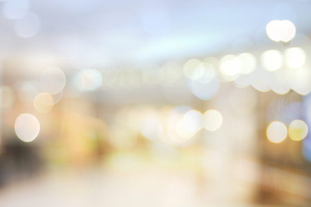 empty warehouse: Blurred bokeh light in hall shopping mall colorful defocus art abstract background