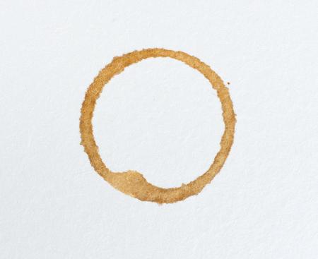 Coffee stain on white background Stock Photo