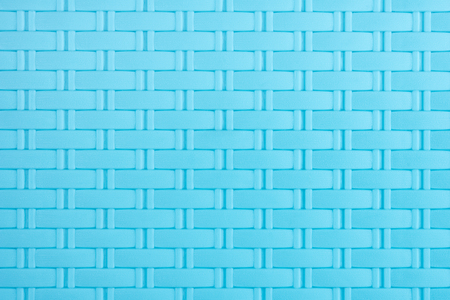 Blue plastic weaving pattern art abstract texture background ,photo backdrop decoration design Zdjęcie Seryjne