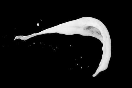 White bubble foam splash explosion in the air on black background,freeze stop motion photo object design Foto de archivo - 112897112