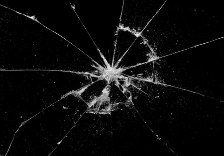 Broken glass craked on black background ,hi resolution photo art abstract texture object design