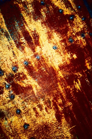 Texture of yellow-dark red color, with a  inclusion point weld Stock Photo - 11137777