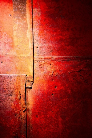 footplate: Red-yellow colors of a rust  Stock Photo