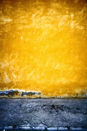 It is yellow - a dark blue background in style grunge. photo