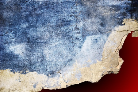 It is gray - a dark blue background in style grunge. Torn off in a red precipice photo