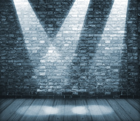 Background in style grunge. Inter shined with projectors Stock Photo - 12407749