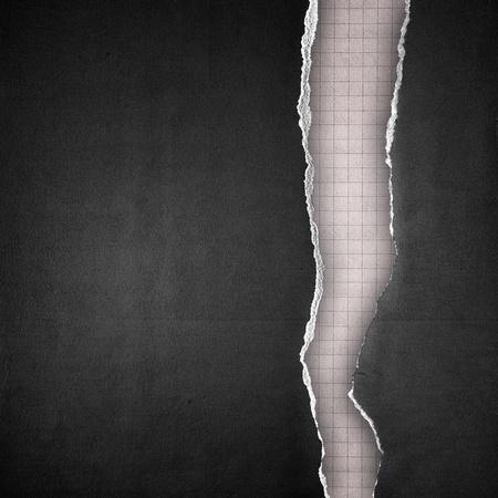 gescheurd papier: rijpe zwarte papier achtergrond Stockfoto