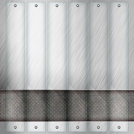 Abstract modern metal glass background photo