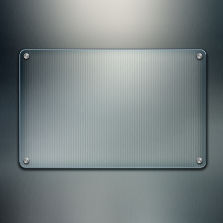 Blank glass plate background. Futuristic screen with copy space Stock Photo - 12619765