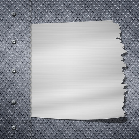 Cracked metal background. With frame for text photo