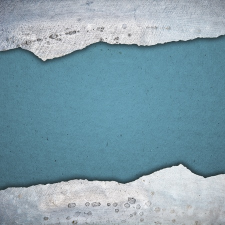 grunge  paper green texture background, silver plate decorated Stock Photo - 13222961
