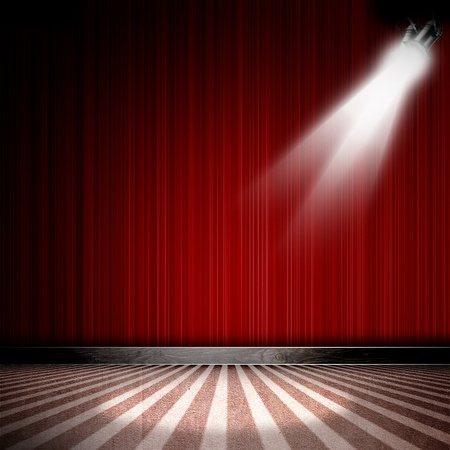 Background in show. Inter shined with a projector Stock Photo - 13246498