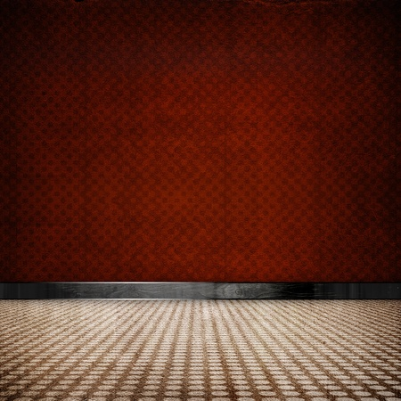 red retro vintage grunge empty room photo