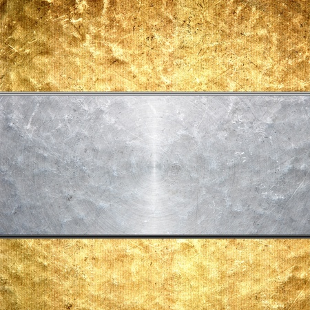 Brushed gold metal background photo