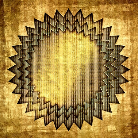 perforated sheet: Brushed gold metal background