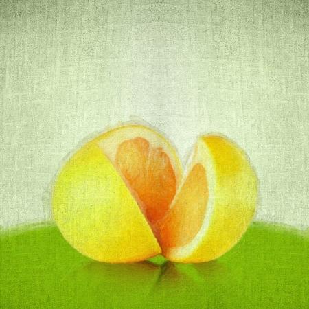 Grunge retro vintage paper texture background. Orange cut photo
