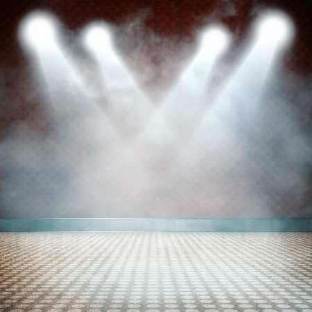 empty stage: Background in show  Interior shined with a projector Stock Photo