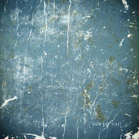 feuille froiss�e: texture grunge papier bleu, fond en d�tresse