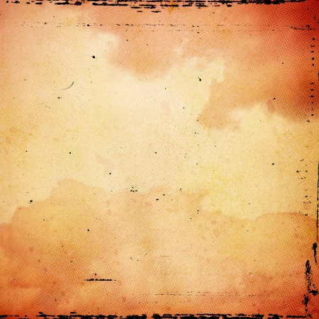 vintage paper: grunge orange paper texture, abstract brushed background