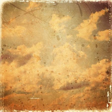 vintage cloud background, old paper texture photo
