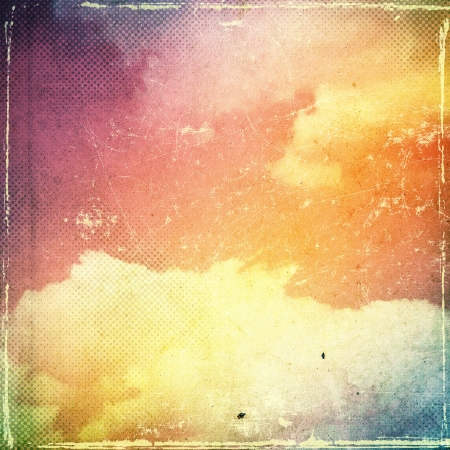 Grunge cloud background, vintage paper texture photo