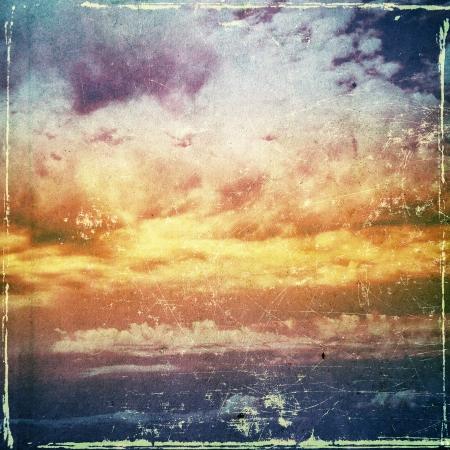 Grunge cloud background, vintage paper texture photo