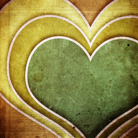 grunge heart: grunge retro paper texture, abstract heart background Stock Photo