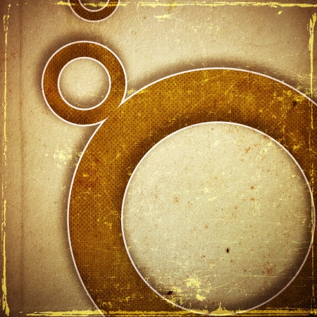 grunge retro paper texture, abstract circles background Stock Photo