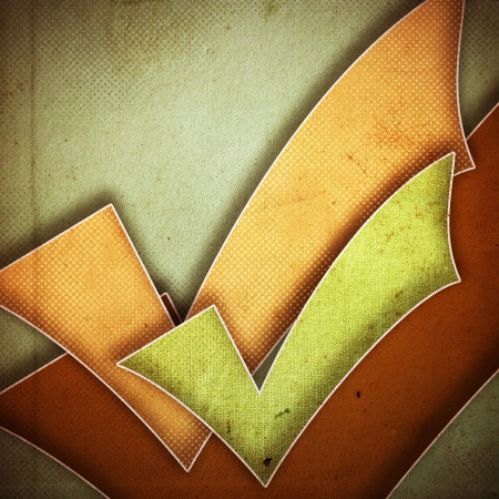 scrapbook cover: grunge textura de papel retro, resumen de antecedentes marca de verificaci�n