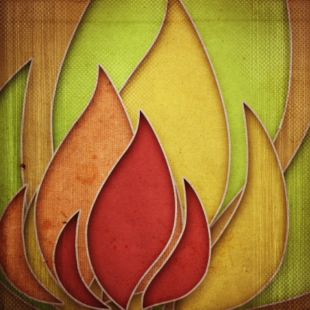 grunge retro paper texture, abstract flame background photo