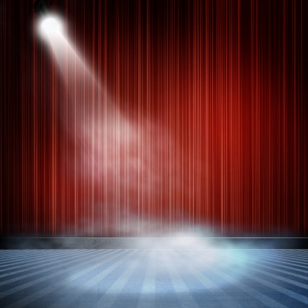 spotlight background: Background in show. Interior shined with a projector