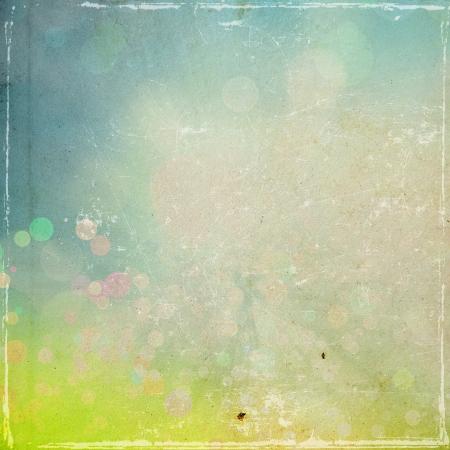 bordes decorativos: textura grunge papel retro, círculos de fondo abstracto