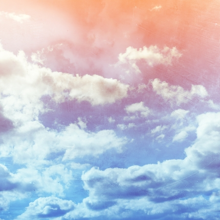 Grunge cloud background, vintage paper texture Stock Photo - 15551382