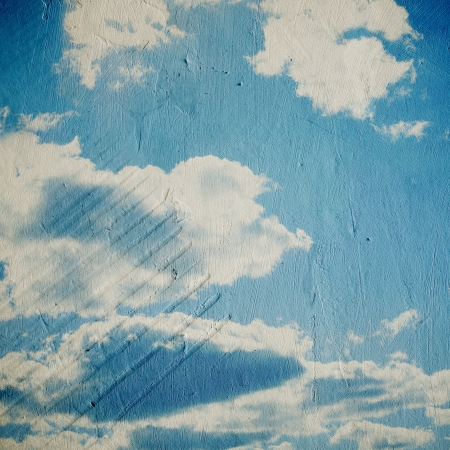 Grunge cloud background, vintage paper texture Stock Photo - 15554095