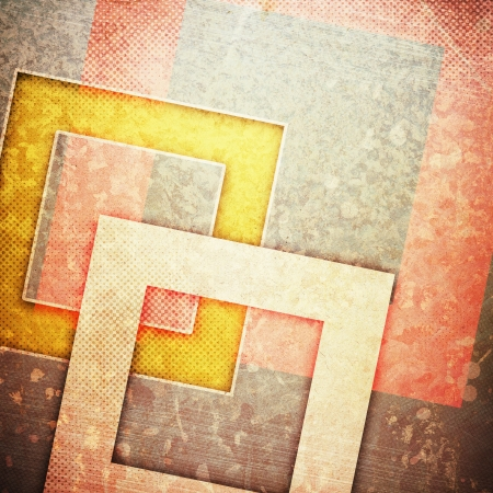 grunge retro paper texture, abstract squares background photo