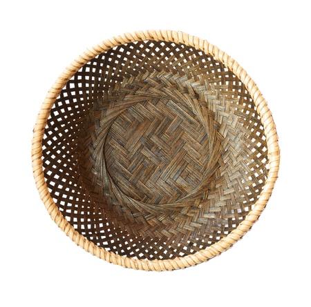 wickerwork: empty basket on a white background Stock Photo