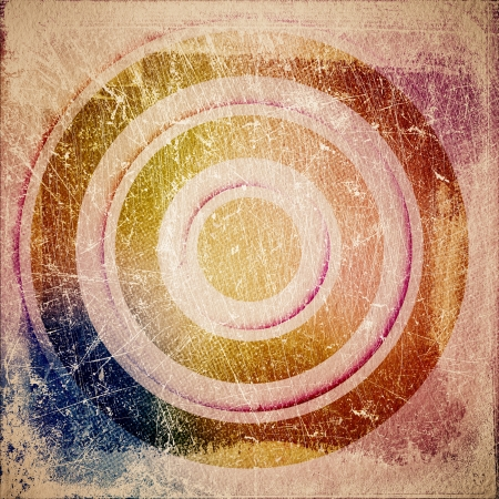 grunge retro paper texture, abstract  circles background photo