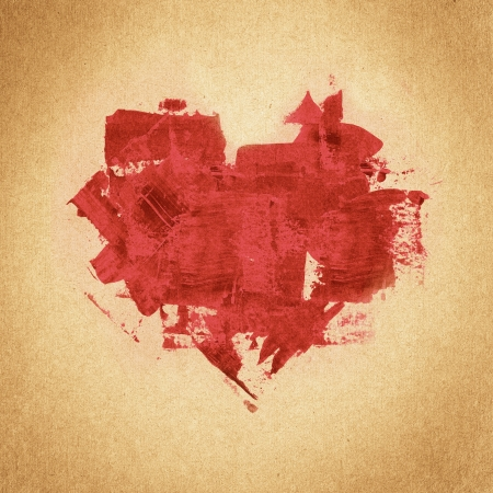 vintage paper texture, retro heart background photo