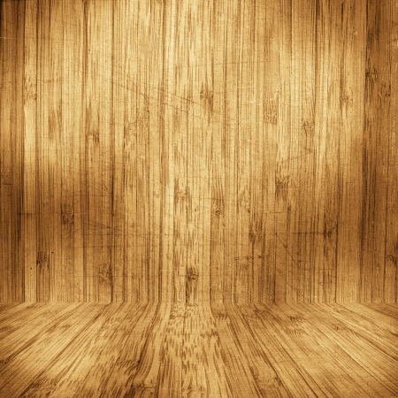 Grungy wooden room, vintage background photo