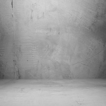 Grungy concrete room, distressed background photo