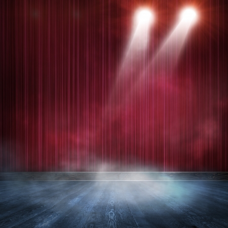 shined: Background in show  Interior shined with a projector Stock Photo