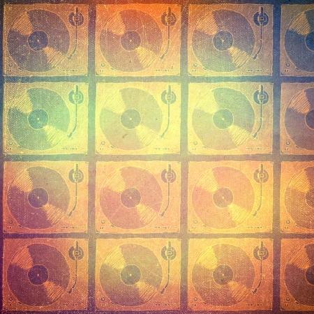 art retro music background, vintage paper texture, photo