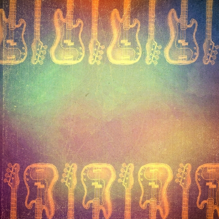 art retro music background, vintage paper texture, photo