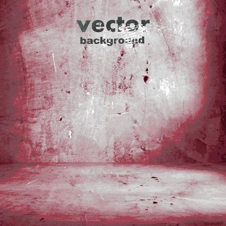 grunge retro vintage interior, vector background Иллюстрация