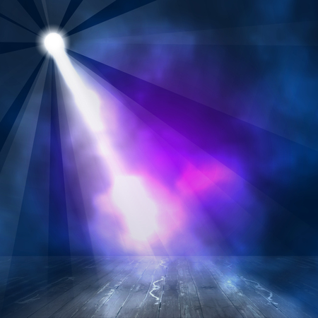 night club interior: Background in show. interior shined with a projector