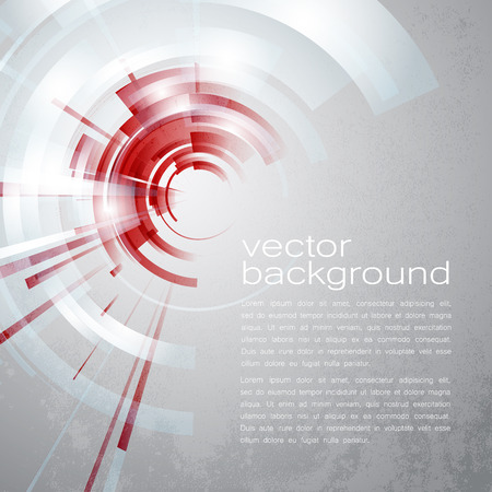 creative communication: Techno Vector Circle Abstract Background Illustration