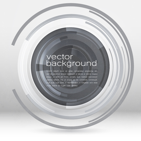 blue circle: Techno Vector Circle Abstract Background Illustration