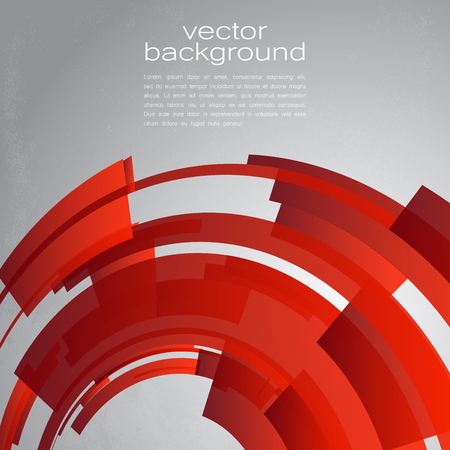 Techno Vector Circle Abstract Background Ilustração