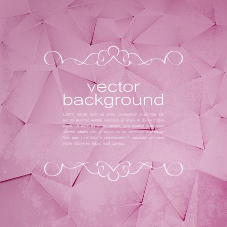 vintage paper: Polygonal Vector Background. Vintage Paper Texture Illustration